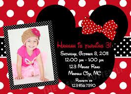 Minnie Mouse St Birthday Invitations For Having Elegant Invitation