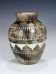 navajo pottery designs. Navajo Etched Horsehair Pottery Vase Designs