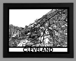 cleveland cool cut map gift on cleveland metal wall art with cleveland city map metal wall art cut map gift cut maps