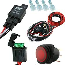 1 autohass lighting 40 amp universal wiring harness comes with 40 diy off road wiring harness 1 autohass lighting 40 amp universal wiring harness comes with 40 relay, illuminated on off rocker switch for offroad led light bars and work lights, jeep,