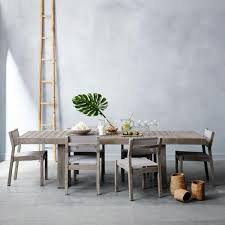 elm dining table au. portside textilene dining chair - weathered grey elm table au