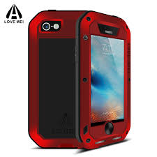 apple 5s case. luxury for apple iphone se case 5 s shockproof aluminum + gorilla glass metal armor cover 5s