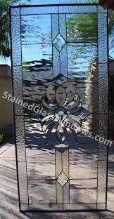 the san marcos clear beveled leaded stained window glass panel