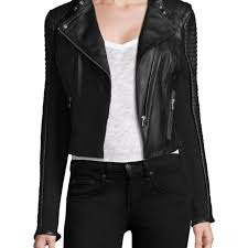 new lamarque womens paige distressed leather jacket