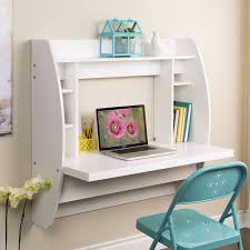 floating writing desk with storage