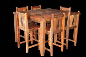 bradley s furniture etc utah rustic dining table sets perfect for nook dining or game