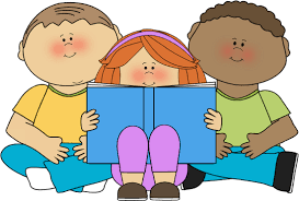 Image result for children reading with adults cartoon