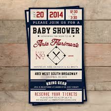 broadway ticket template vintage baseball ticket ba shower invitation personalized baby
