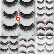 1 <b>Pair</b> Black Luxurious 100% Real <b>Mink</b> Natural Thick Eye Lashes ...