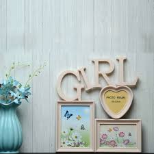 creative monogram personalized photo frame for girls