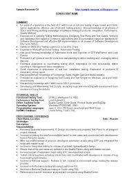 Qa Sample Resume Cv Software Bug Software Development