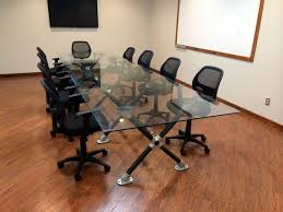 glass top meeting room table