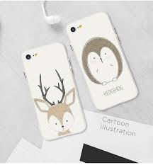 <b>Lovely Deer Cartoon Animals</b> Case For iphone 7 8 7plus Fox Deer ...