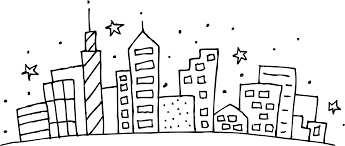 Free Coloring Pages Print City Scene Coloring Page L