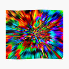 Classic Chart Patterns Poster Rainbow Wormhole Tie Dye Pattern Poster