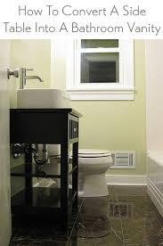 side table into a bathroom vanity