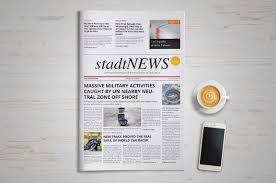 Newspaper First Page Template Printable Newspaper Front Page Template Psd Indesign Ai