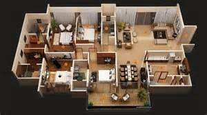 Four Bedroom House Plans   Design Gallery    Bedroom House Floor Plans D Photo Gallery     X Four Bedroom