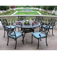aluminum dining set cast aluminum 7 piece set with round table cast aluminum patio dining sets