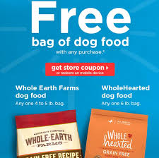 petco dog food whole earth. Perfect Food We Received An Email From Petco This Morning With Instore Offer FREE  Bag Of Whole Earth Farms Dog Food 45 Lb Or WholeHearted 6lb Any  Throughout Dog Food R