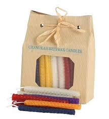 details about chanukah candles for menorah hanukkah celebrations 45 beeswax candles multi colo