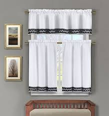 Small Picture Black and White Kitchen Curtains Amazoncom
