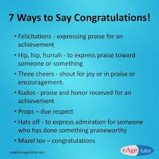 Words For Congratulations Next Time When You Congratulate Your Friend Use These Words