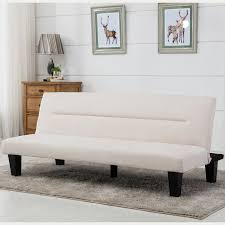 modern style sofa bed futon couch sleeper lounge sleep dorm office