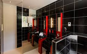 Perfect Red Bathroom Color Ideas White And Black Y With Innovation Design