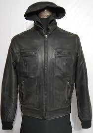 black stone men s hooded er cowhide leather jacket
