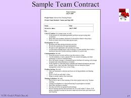 Project Contract Templates project team contract template | trattorialeondoro