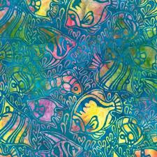 Batik Fish Design Batik Fabric Rk Totally Tropical Ocean Fabric Fish 6478