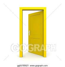 open door drawing. Wonderful Drawing Open Single Yellow Door To Drawing