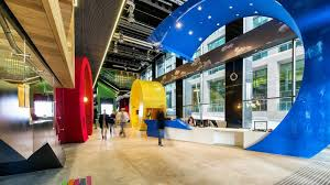 fantastic google office. Fantastic-entrance-hall-of-one-Google-building-with- Fantastic Google Office