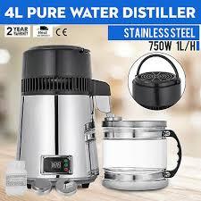 4l water distiller temperature controlled 1l h w water bottle premium countertop