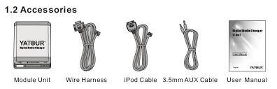 usb sd aux ipod iphone car kit for 17pin bmw e36 e46 e39 e38 cable 1 x user manual