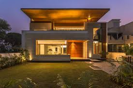 View modern house lights Designs Archello House In Mohali Charged Voids Archello