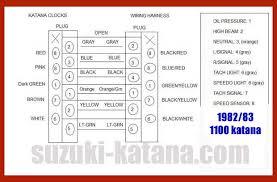 katana wiring suzuki gs1100 wiring diagram speedo pinout · speedo repair · vapor wiring diagram