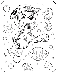 Coloring Pages Marshall Paw Patrol Coloring Page Pages Printable