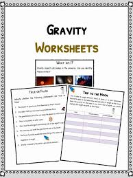 Gravity Facts & Worksheets For Kids | Forces Of The Universe PDF