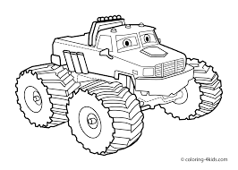 Small Picture Monster truck Coloring page for kids Transportation coloring