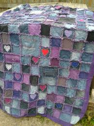 25+ unique Rag quilt purple ideas on Pinterest | Baby quilt for ... & My very first quilt. An