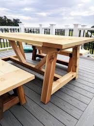 diy outdoor table. DIY- Farmhouse Table Build, Truss Beam Table, Outdoor Woodworking Project, Diy E