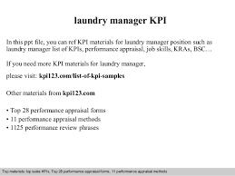 Laundry Manager Kpi