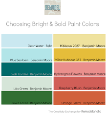 choosing paint colors. Tips For How To Choose Bright And Bold Paint Colors {Remodelaholic} Choosing