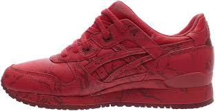 asics gel lyte iii marble pack mens red leather lace up sneakers shoes men s