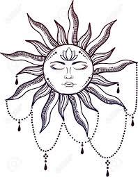 Stock Vector эскиз тату тату солнце идеи для татуировок и