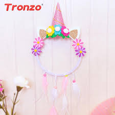 Dream Catcher Party Plates Fascinating Tronzo DIY Unicorn Boho Dream Catchers Birthday Party Decortions