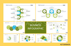 Creative Infographic Diagrams With Geometric Elements For