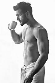 Image result for sexy male model drinking tea